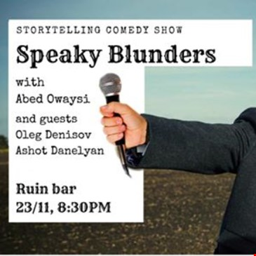 Speaky Blunders - storytelling comedy show