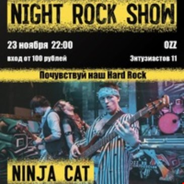 NINJA CAT - Night Rock Show